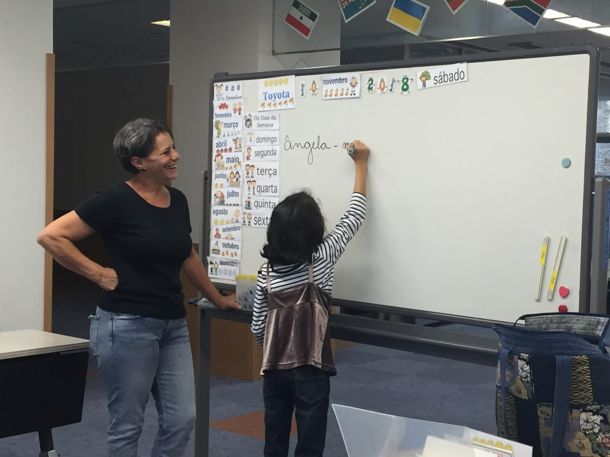 Aulas de português para crianças.