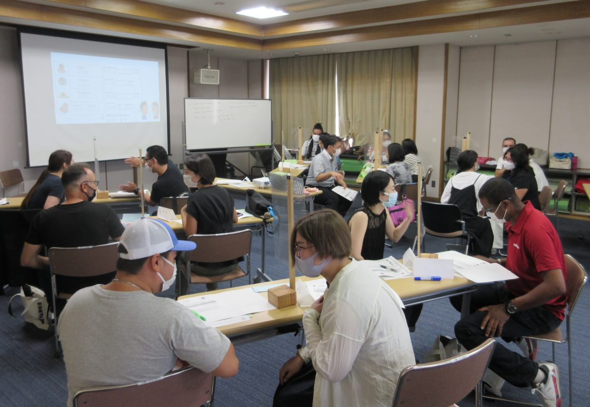 The Avance Japanese Language Class at Suenohara Exchange Center: We hold a Japanese language class for people who are hardly able to speak the language.